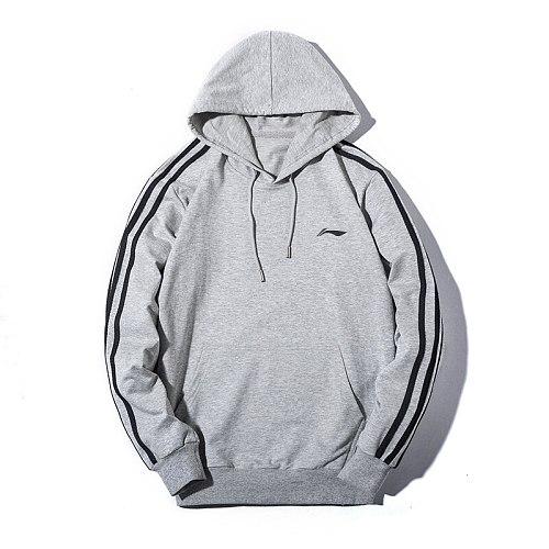 Li-Ning Men Couple Hoodies Sweatshirt  Cotton Tracksuit Sweatshirt 2020 Winter Casual Loose Jumper Plus Size  Hooded