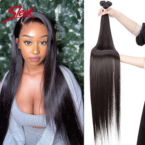 Sleek Long Straight Bundles Human Hair Extension 36 38 Inches X Real Hair Natural Color Remy Weave Can buy 3 Or 4 Bundle