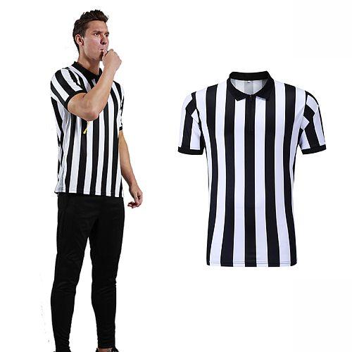 Shinestone Referee Shirt Men's Basketball Soccer Referee Jersey 100% Polyester Referee Uniform Adults Football Referee Uniform