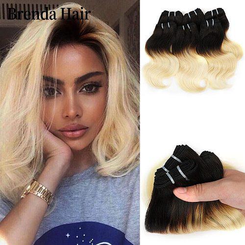 6 Pcs/Lot Brazilian Body Wave 190g/Lot Hair Bundles Curl Hair Extension 1B/27/613/99J Ombre Hair Bundles 100% Human Hair Weaves