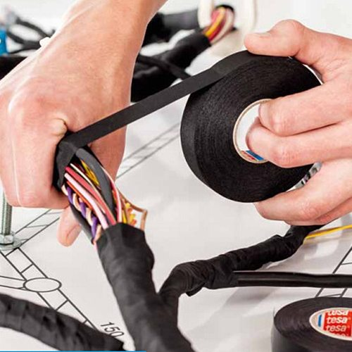15m Auto Wiring Harness styling Car Vehicle Noise Sound Insulation Fleece Tape Black Adhesive Cloth Fabric Tape Cable Looms