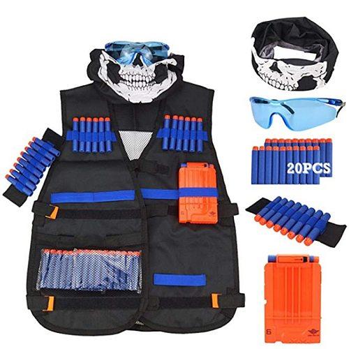 Children Kids Tactical Vest Jacket Waistcoat Suit Kit Holder Pistol Bullets Toy Clip Darts For Outdoor Games Toys Equipment