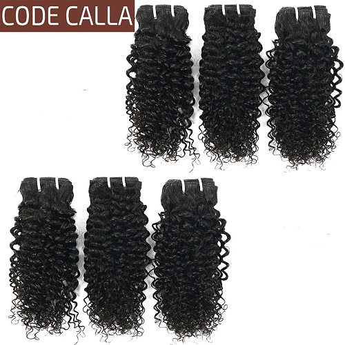 Malaysian Curly Hair 6 Bundles Deal Code Calla Kinky Curly Weave Human Hair 12 Bundles 18g/Pc Remy Hair Extensions 8-26inches
