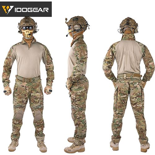 IDOGEAR Ghillie suit winter hunting clothes Gen3 Combat Uniform paintball Airsoft  Tactical BDU Multicam camouflage