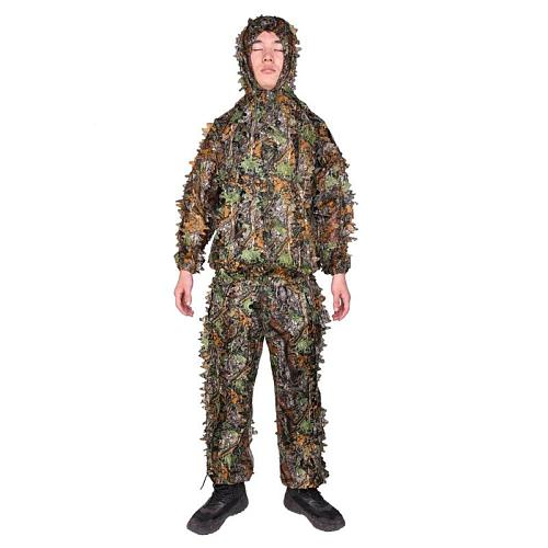Ghillie Suits 3D Leaves Hunting Clothes Bionic Yowie sniper birdwatch airsoft Camouflage Clothing jacket and pants 2019 New