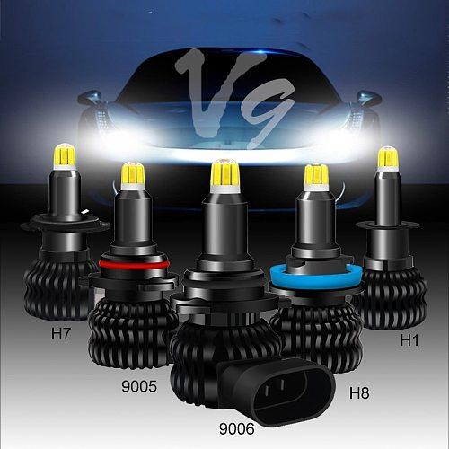 V9 With SAMSUNG 48 CSP Chips Led H7 8 Sides 9005 HB3 H11 H8 H1 Bulbs Car lights 50W 18000LM 6500k Fog Light Hi Lo led Automotivo