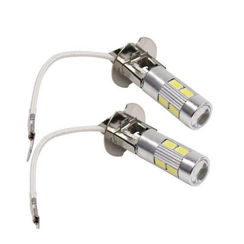 2PCS H3 H1 LED Bulb 5630 10SMD 12V for Fog Lights H3 LED Auto Lamp Day Running Light