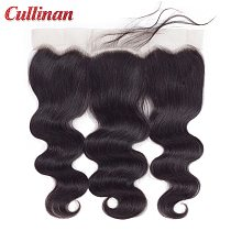 Body Wave Closure Pre Plucked 13x4 Lace Frontal Peruvian Human Hair Closure With Baby Hair Cullinan Remy Natural Color 8 -24