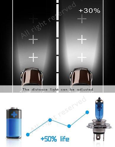 2pcs 24V H4 100W Super Bright White Fog Lights Halogen Bulb High Power Headlight Lamp Car Light Source Car Styling parking auto