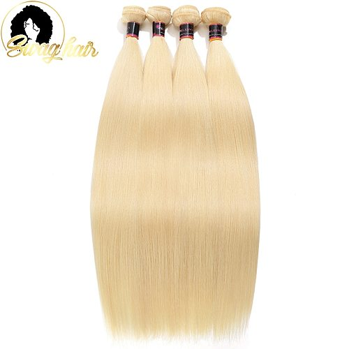 Blonde Hair Bundles Straight Human Hair Double Weft 613 Color 1 2 3 4 Pcs/Lot Brazilian Remy Hair Extension 26 28 30 Inch Long
