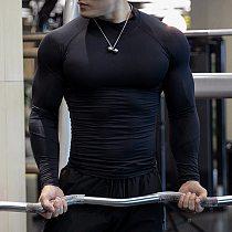 Fitness T-Shirts Compression Rashguard Mma Tshirts Workout Quick Dry Fit Sport Gym Clothing Running Long Sleeve T Shirt Men 2020