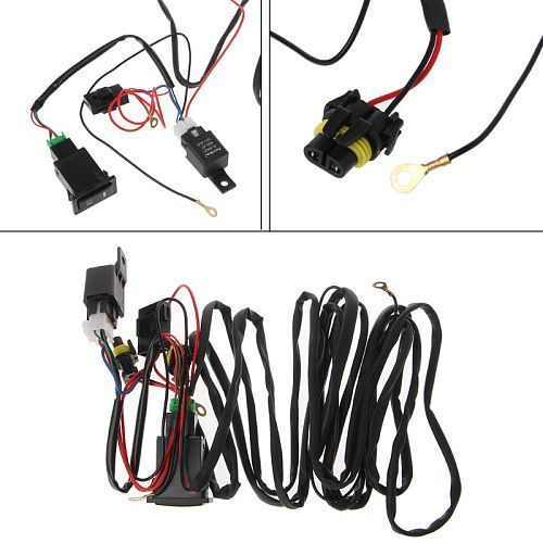 Universal 12V 40A Relay Wiring Harness With On/Off Switch Kit For Car LED Fog Light M77