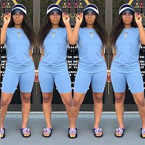 Women's Casual Sports Suit Summer Fashion Solid Color Short Sleeve T-shirt and Shorts 2 Pieces Set Tracksuit Outfits