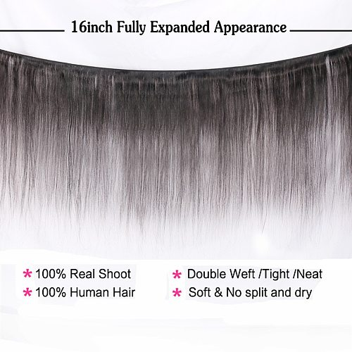 Halo Lady Beauty Brazilian Virgin Hair Extensions Straight Unprocessed Human Hair Weaves 30 32 34 36 38 40 50 Inches 1 Bundle 1b