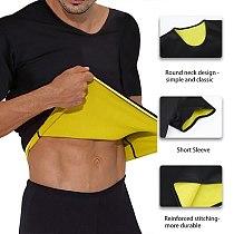 Men's Thermal Body Shaper Slimming Shirt Shapers Compression Sports Shirt Neoprene Waist Trainer Body Shaper Slim Vest T-Shirt