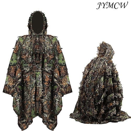 Hunting Ghillie Suit Camouflage Maple Leaf 3D Tactical Suits Sniper Clothes Shooting Wildlife Photography Men Women