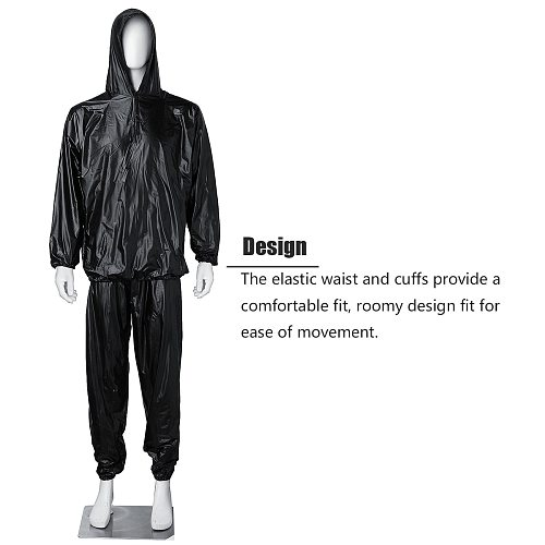 Heavy Duty Fitness Weight Loss Sweat Sauna Suit Exercise Gym For Men Women Full Body Shaper