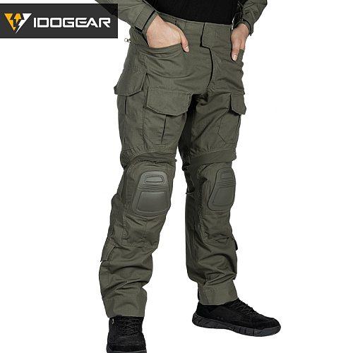 IDOGEAR Tactical G3 Pants Airsoft Combat Trousers Military Army  Tactical  Bdu Camouflage Pants Winter Sports 3205