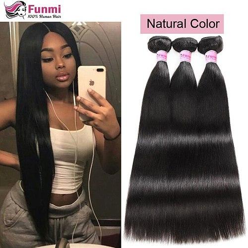 Ombre Brazilian Straight Hair Weave Bundles T1B 27 Virgin Hair Bundles Honey Blonde Funmi Virgin Human Hair Extensions 1/3/4pcs