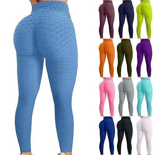 2021 High Waist Yoga Pants Women Scrunched Booty Leggings For Women Anti Cellulite Workout Running Butt Lift Tights Leggings