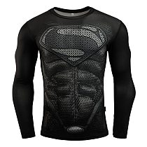 Long Sleeve Sport Shirt Men Superhero Punisher 3D Compression T Shirt Quick Dry Men's Running T-shirt Gym Fitness Top rashgard