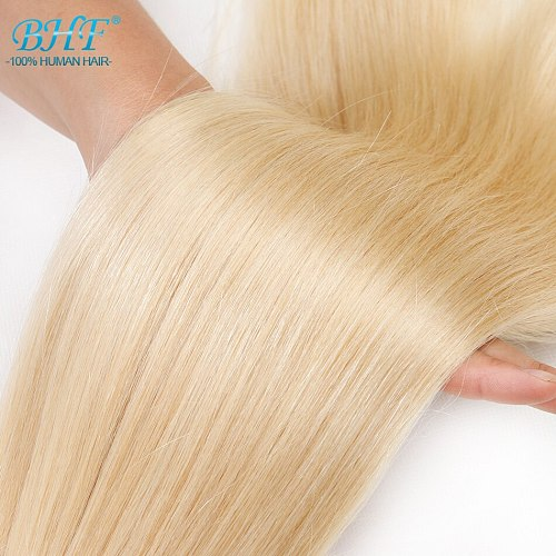BHF 100% Human Braiding Hair Bulk Machine Made Remy Straight India Hair Bulk long length 100g Natural Blonde Hair