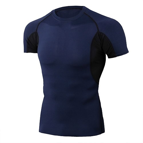 Men mma thermal underwear 3d compression short sleeve t shirts fitness tight men bodybuilding clothing
