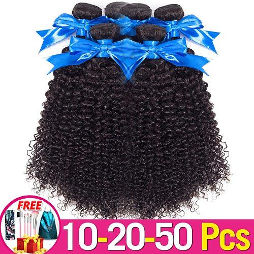 Jarin Hair 10-20-50 pcs/Lot Kinky Curly Hair Bundles Remy Human Hair Extensions Bundles Thick Kinky Curly Bundles Jarin Hair