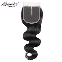 Bigsophy Brazilian Body Wave Closure Human Hair 8-20 Inch 4x4 Lace Closure Free/Middle Part Remy Hair Closure Cheveux Humain 1PC