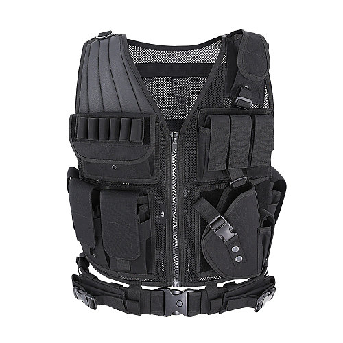 MGFLASHFORCE Tactical Vest Molle Swat Army Military Combat Assault Hunting Fishing Shooting Airsoft Vest