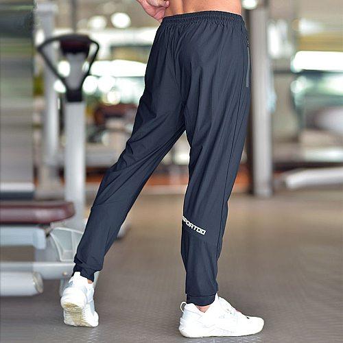 Men Running Pants Soccer Training Pants With Zipper Pockets Football Pants Jogging Fitness Gym Pants Workout Sport Pants
