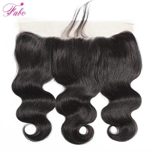 FABC Hair Brazilian hair Body Wave 13x4 Lace Frontal closure Remy Human Hair frontal closure Natural color 10-22inch