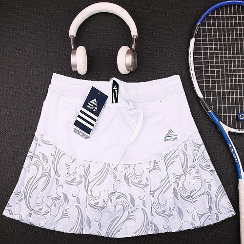 women Tennis skirts with Built In Short , Women's Tennis Skorts , Female Fitness Skirt Bodybuilding Exercise Yoga Sports Short