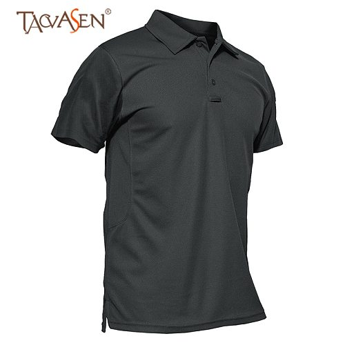 TACVASEN Mens Army Military T Shirt Short Sleeve Outdoor Breathable Climbing Hiking Fishing T-Shirt Tactical Combat Tee Tops Man