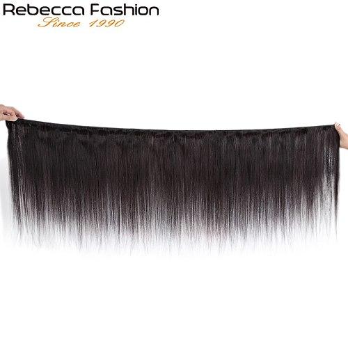 Rebecca Straight Hair Bundles Deals Peruvian 100% Human Hair Weave Bundles 8 To 28 Inch Straight Human Hair Extensions