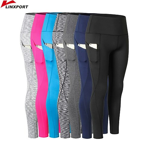 Women Yoga Capris Quick Dry Pants Fitness Leggings Cycling Sweatpant Slim Running Tights Sportswear Sports Trousers Gym Clothing