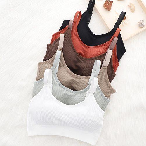 Sports Yoga Bra Women Seamless Padded Sports Bra Fitness Running Gym Bra Sports Underwear Push Up Sport Bra for Cup A B