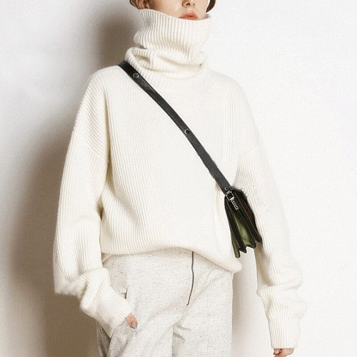 Sweter Mujer Warm Sweater Women Korean Fashion Clothing Winter Pullover Female Knitted Turtle Neck Sweaters Pull Oversize Femme