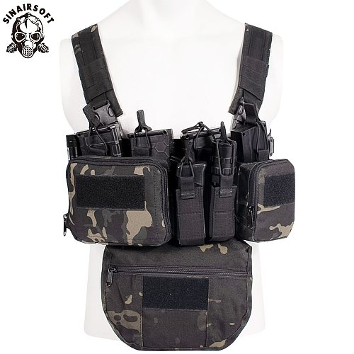 CS Match Wargame TCM Chest Rig Airsoft Tactical Vest Military Gear Pack Magazine Pouch Holster Molle System Waist Men Nylon Swat