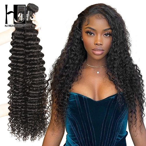 Curly Bundles 30 36 38 40 Inch 100% Human Hair Bundles Brazilian Deep Wave Hair Weave Bundles Hair Virgin Human Hair Extension