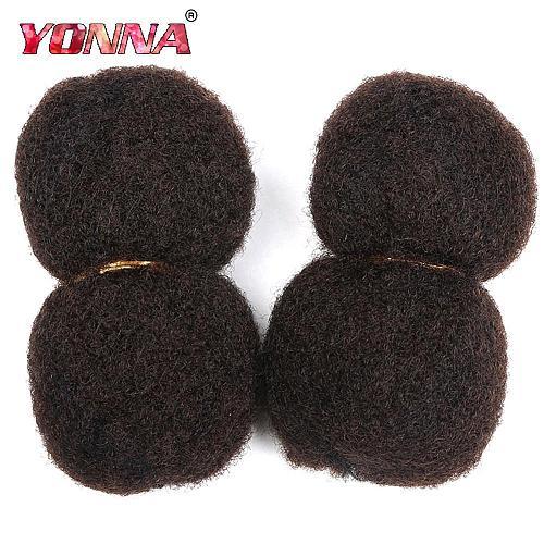 YONNA Tight Afro Kinky Bulk Hair 4PCS/LOT 100% Human Hair For Dreadlocks,Twist Braids 8inch-18inch