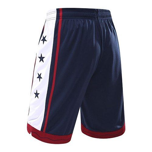 NEW 2021 Sport Athletic USA Basketball Shorts Training Men Active Shorts Loose Pockets Mens Summer Running Fitness Jogging short