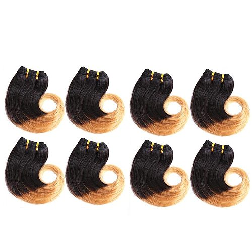 Bodywave Bundles Ombre Cheap Human Hair Bundles Colored Brazilian Hair Bundles None Remy Two Tone Human Hair Weave Extensions