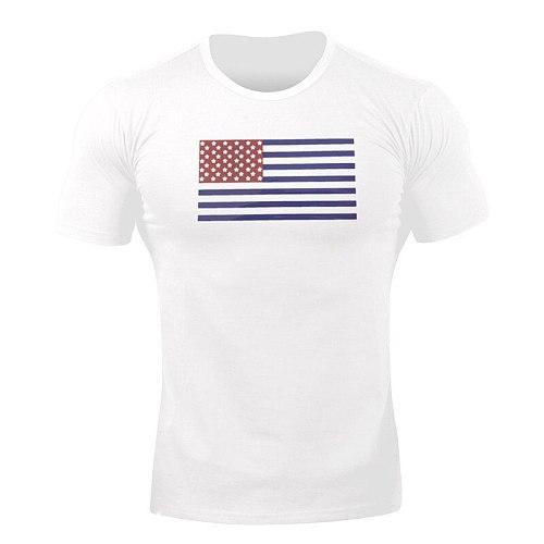 Mens Fitness T-shirt Gyms Bodybuilding Workout Skinny Short sleeve Cotton t shirt Summer Male Running Sports T-shirt men