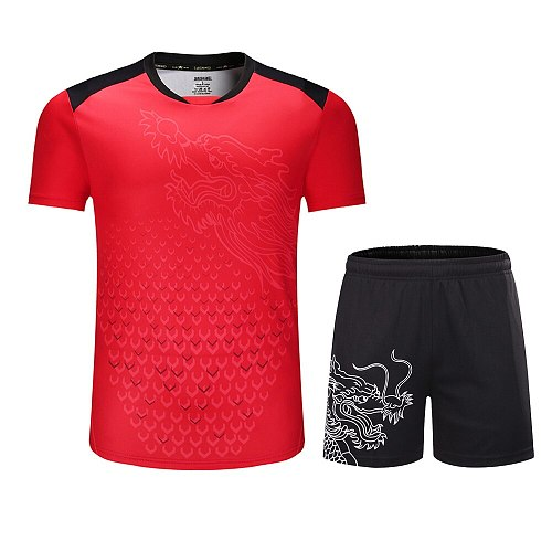 New CHINA Dragon table tennis sets Men or Women , ping pong tracksuit , Chinese table tennis clothes , table tennis jerseys