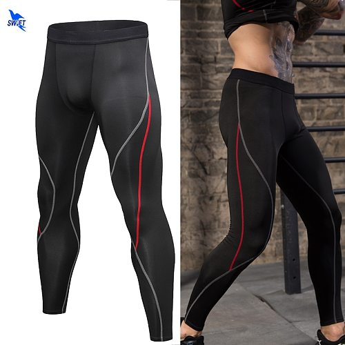Quick Dry Skinny Running Tights Men Compression Fitness Crossfit Training Gym Leggings Sports Jogging Long Yoga Athletic Pants