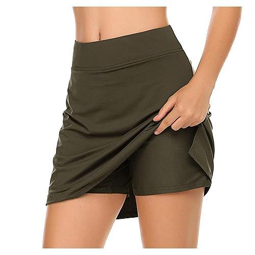 Women's Active Lightweight Skirt Running Tennis Golf Workout Sport Hot Sale Fashion Skorts With Underwear For 2020 Summer Ladies