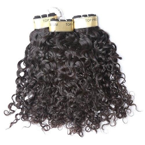 Alibd Water Wave Human Hair Weaves Peruvian Virgin Hair Extensions 3 Bundles/lot Natural Color Free Shipping