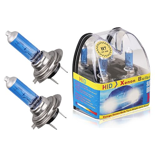 2pcs/Box H7 55W Halogen Bulb with Retail package H7 12V 6000K Super Bright White Halogen Headlight Lamp Fog Lights Car Styling