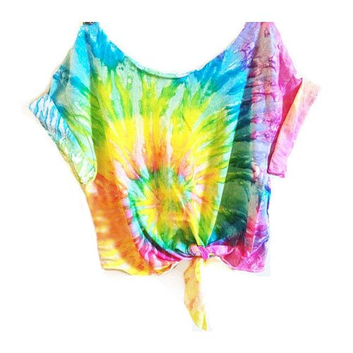 Brand New Women Summer Tie Dye Casual Tops T-shirs Female Sportswear Fitness Fashion Outfits